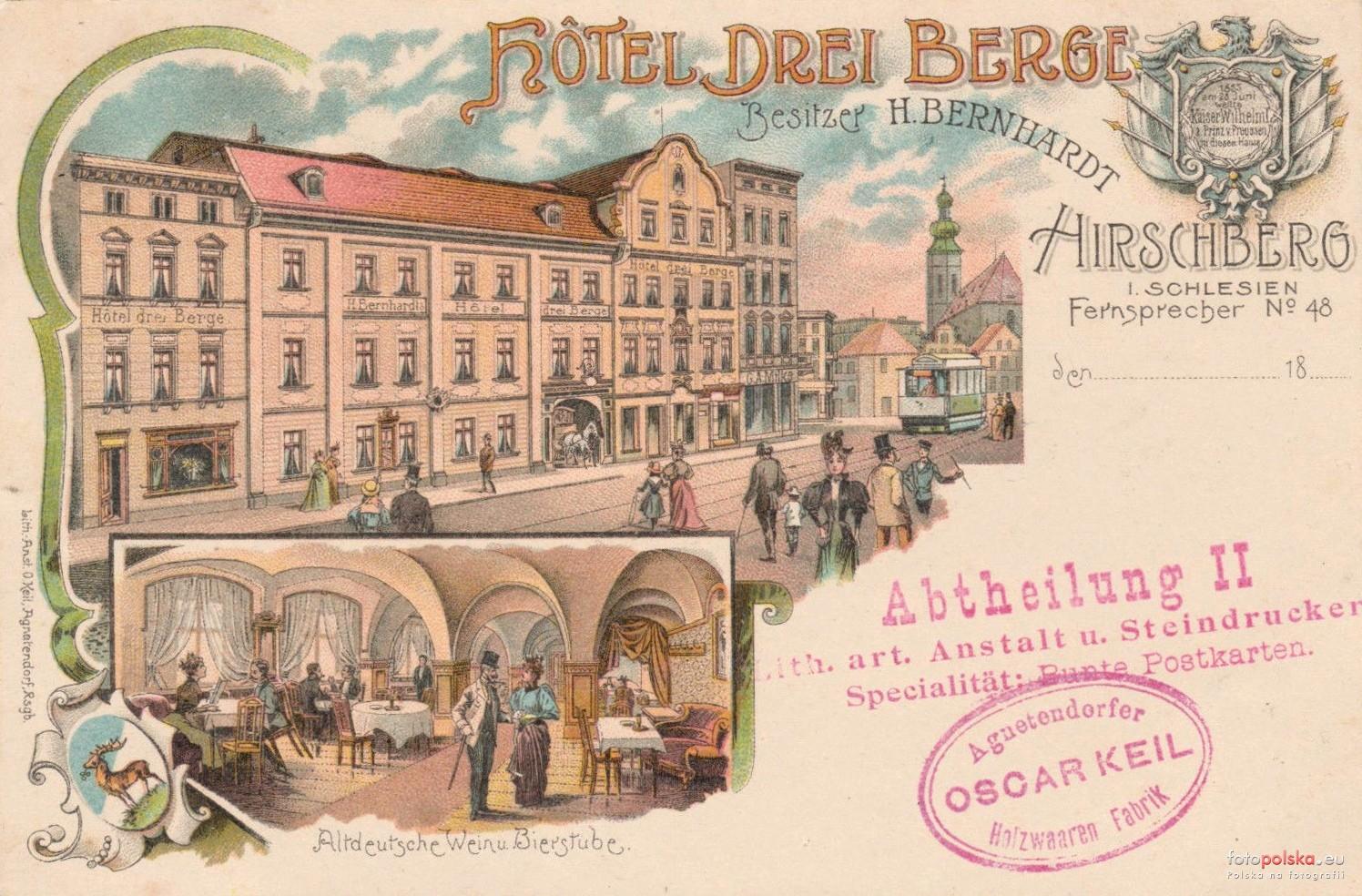 Hotel Europa na pocztówce